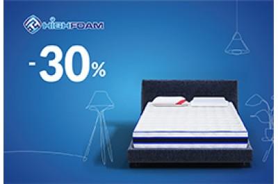 Скидки до -30% на ортопедические матрасы и подушки