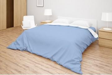 Комплект белья Simple цвет Blue Bell - White