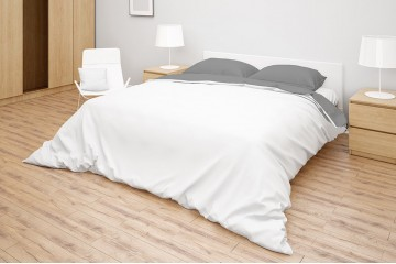 Комплект белья Simple цвет White - Light Grey