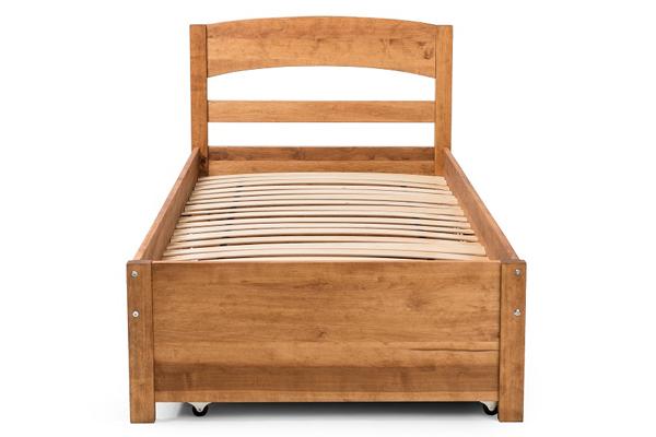 Деревянная кровать TQ Project Тиана c ящиком для белья массив Ольхи